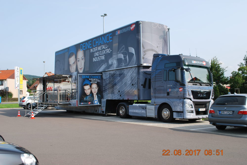 Berufsorientierung am Pädagogium Bad Sachsa - Der ME-Truck war da!