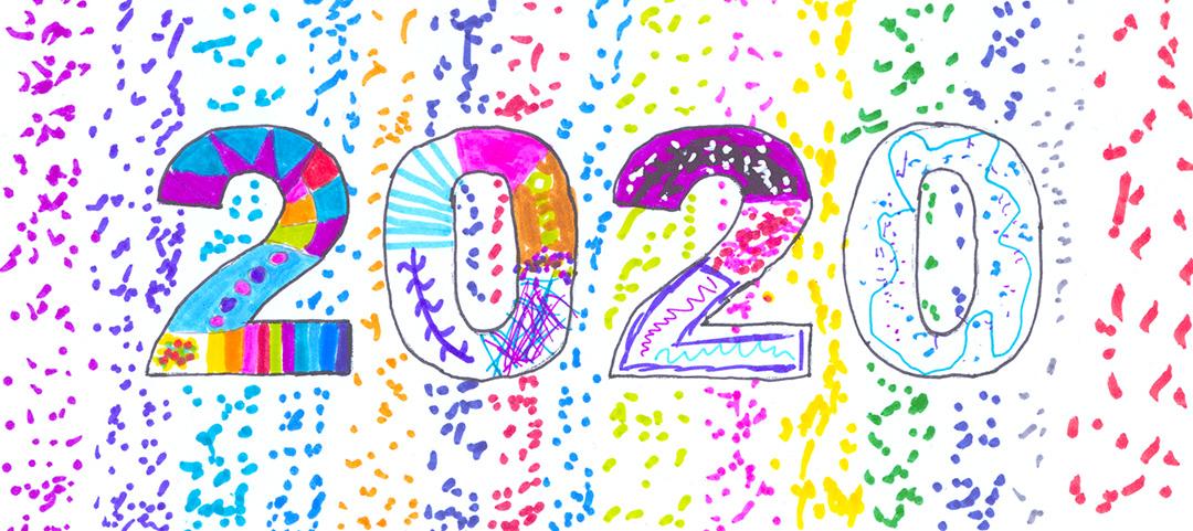 Frohes neues Jahr päda-ArtCard von Charlotte Hansmann, Klasse 5a
